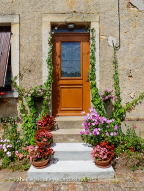 20120804 - Cher - La Borne - escalier fleuri