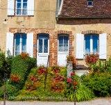 20120731 - Yonne - Toucy - escalier fleuri