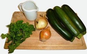 Ingrédients potage aux courgettes