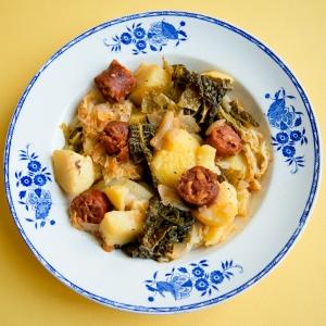 Potée de chou frisé à l'asturienne