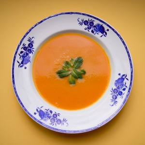 Potage de potiron et carottes à l'orange