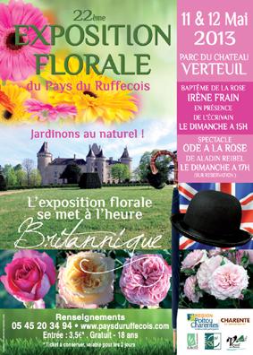 Affiche expo florale 2013 Verteuil